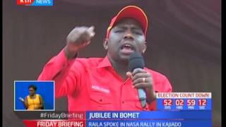 President Uhuru Kenyatta and DP William Ruto accuse Raila Odinga of incitement during campaigns