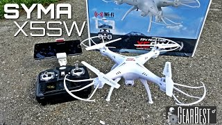 Syma X5SW Quadcopter - [Unboxing & Review] - 6 Axis - 2.4GHz - WIFI - FPV - 2MP Camera фото