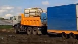 Русское бездорожье на автомобиле КАМАЗ