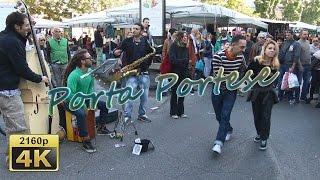preview picture of video 'Mercato di Porta Portese with EtruSka Jazz, Roma - Italy 4K Travel Channel'