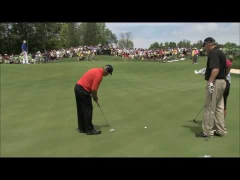 Johnny Miller doesn't think he can make a putt. Jack Nicklaus shows him how it's done.