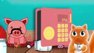Усатая свинка Сметанка и веселый кот #Джем!