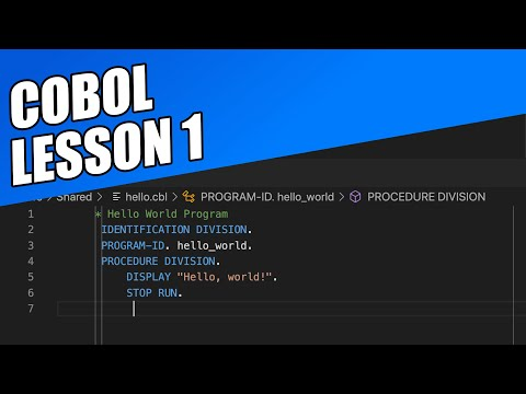 COBOL Lesson 1 -- Introduction