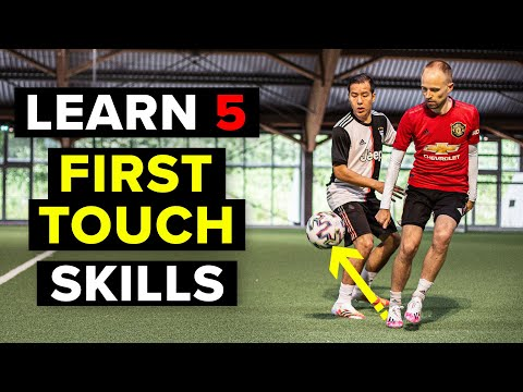 Learn 5 EASY first touch skills to beat a defender