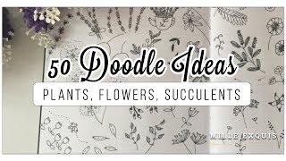 50 Bullet Journal Doodle Ideas!   BEST EASY Plants, Flowers, Cacti & Succulents