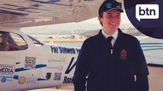 Oliver O'Halloran, youngest pilot to fly solo around Australia - Behind the News