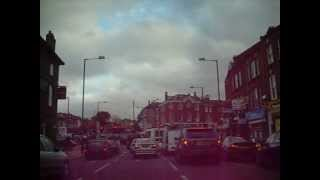 preview picture of video 'Brixton to Dulwich Common by car.'