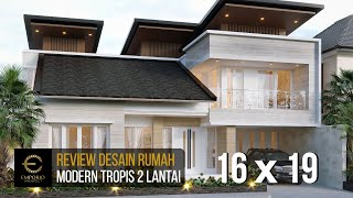 Video Desain Rumah Modern 2 Lantai Bapak Himawan di  Surabaya