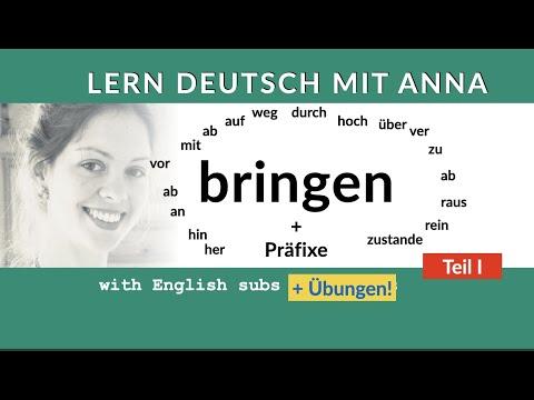 Bringen and Präfixe (I) - Lern Deutsch
