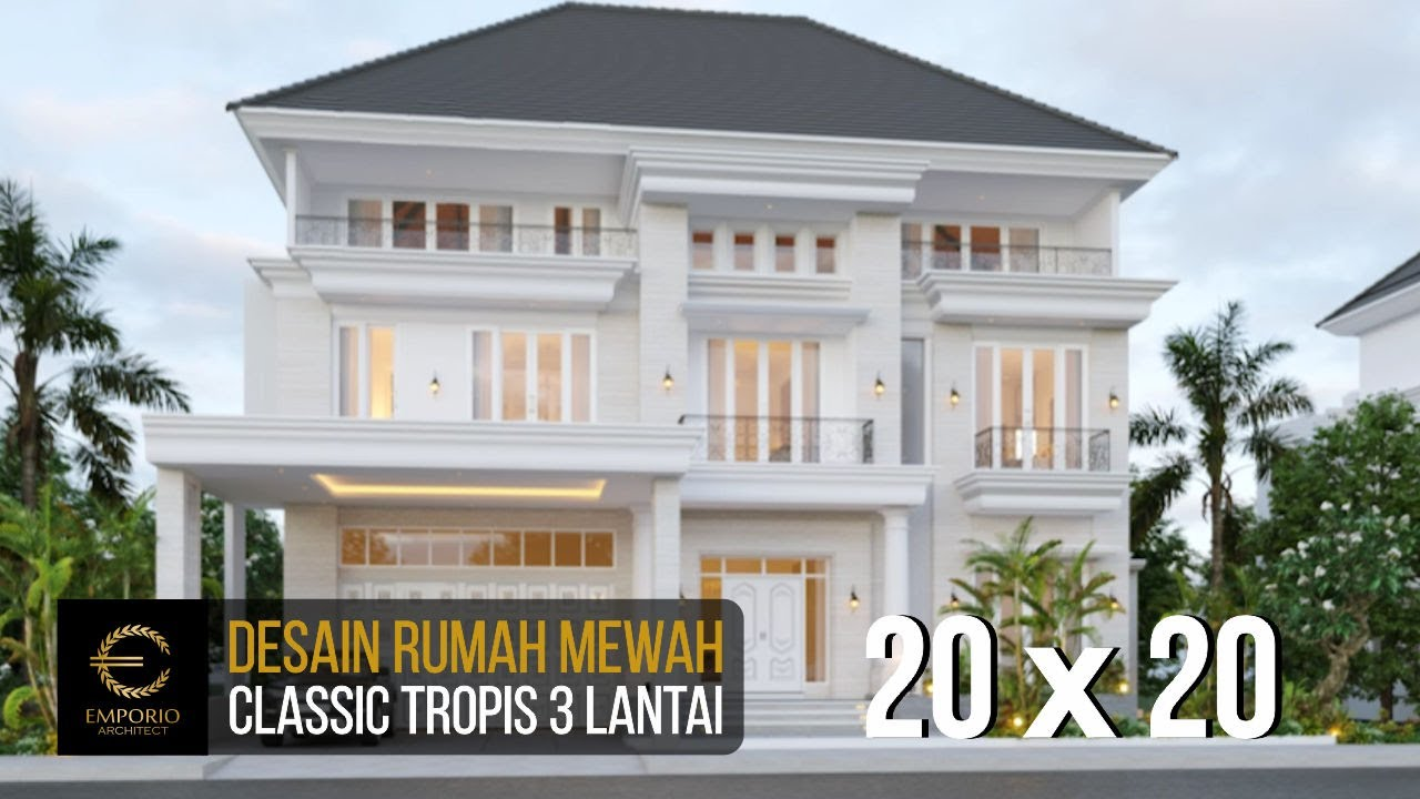 Video 3D Mr. George Alexander Classic House 3 Floors Design - Riau