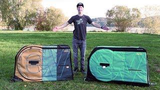 Fliegen mit Fahrrad | EVOC Bike Travel Bag richtig packen | Vergleich PRO vs. normal
