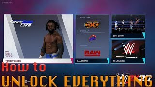 WWE 2K20- How to unlock (almost) everything (Tutorial)