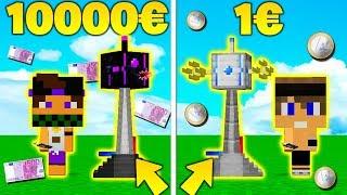 TORRETTA AUTOMATICA 10000€ vs 1€ - Fortnite su Minecraft ITA