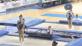 preview picture of video 'Pesaro - Campionati Italiani Assoluti Trampolino Elastico 2014'