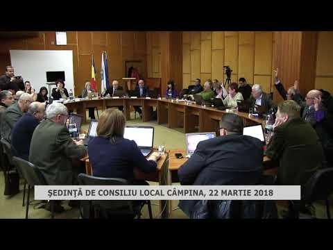 Şedinţa consiliu local Câmpina 22 Martie 2018