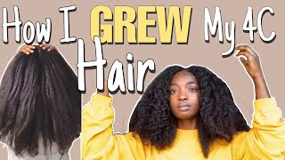 How I GREW my 4C NATURAL HAIR to WAIST LENGTH | HAIR GROWTH Tips | 6 Years Natural