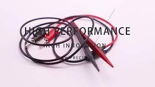 NUELAED Multimeter Tweezers Pen Probe SMD Test Tweezers Lead To Mini Banana Plug youtube video