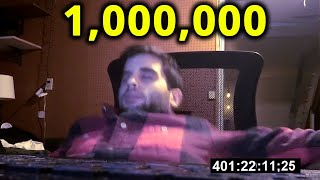 Guy Counts To 1 Million In One Take [ World Record ]