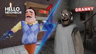 Gambar cover Granny's House TURNS INTO THE NEIGHBOR'S HOUSE!! | Hello Neighbor + Granny Horror Mobile Game (Mods)