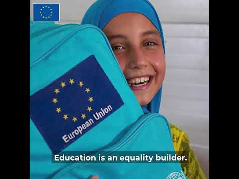 UNICEF & EU joint initiative on Education S.O.S Installation & #Backpack2School