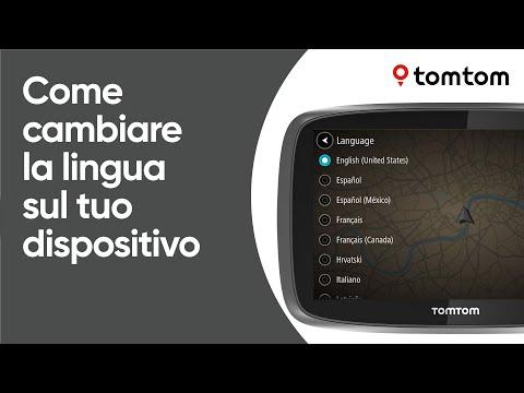 Come cambiare la lingua sul tuo dispositivo di navigazione