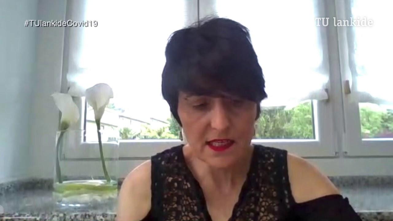 """""""Desde que estalló la crisis estamos al 15 % en la elaboración de menús"""" Amaia Loidi Garmendia, gestora de Centros Sanitarios y Empresa de Ausolan."""