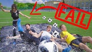 SLIP N' SLIDE FOOTBALL CHALLENGE!