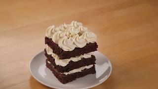 Fudge Brownie Caramel Mousse Napoleons