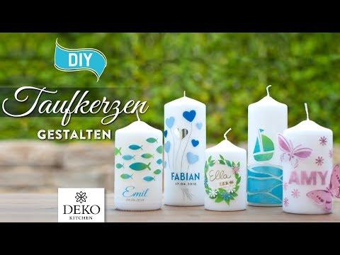 DIY: hübsche Taufkerzen selbermachen [How to] Deko Kitchen