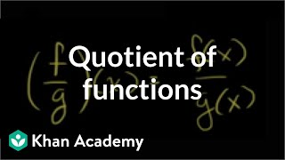 Quotient of Functions