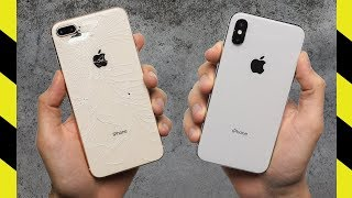 Apple iPhone X vs. Apple iPhone 8 Plus Drop Test!