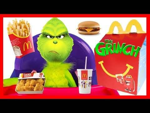 The Grinch Happy Meal at McDonalds with Wreck It Ralph Surprise Toys and Christmas Slime