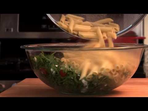Goat Cheese and Arugula Over Penne | Pasta Recipes | Allrecipes.com