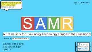 Webinar: SAMR Model of Technology Integration