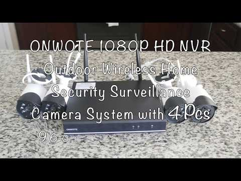 Unboxing And Setup of ONWOTE 4CH 1080P Wireless NVR HD Security Camera