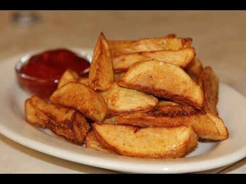 Fried Potato Wedges Recipe ( French Fries Recipe )