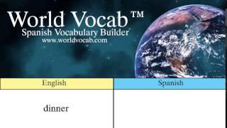 Free Spanish Quick Vocab™ :Dinner - la cena