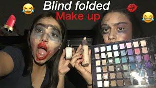 FAILED (BLIND FOLD MAKEUP )