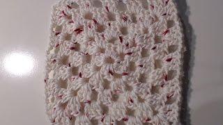 Schema mattonella a uncinetto con fiore
