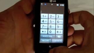 Tracfone LG505c Quick Demo