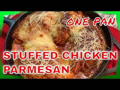 ONE Pan THREE Cheese STUFFED Chicken Parmesan – Delish!