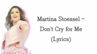 Tini - Don't cry for me (Lyrics video)