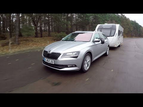 The Practical Caravan Škoda Superb Estate tow car test