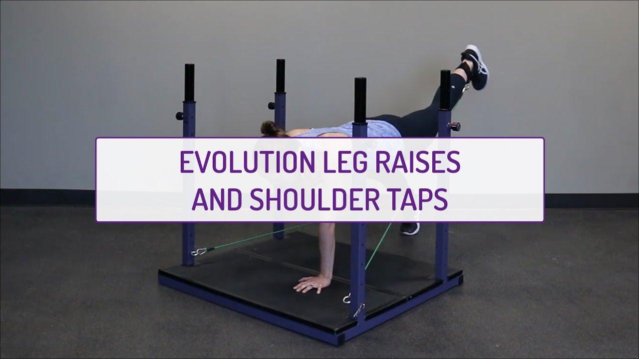Evolution Leg Raises and Shoulder Taps