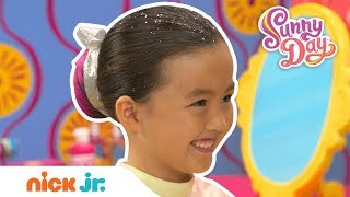 How to Create a Colorful Dance Bun Hairstyle 🌈 Style Files Hair Tutorial | Sunny Day | Nick Jr.