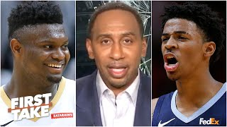 Stephen A.: Zion could catch Ja Morant for Rookie of the Year | First Take