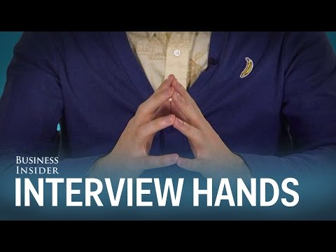 What You Should And Shouldn't Do With Your Hands During A Job Interview