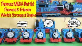 Thomas MEGA Battle - World's Strongest Engine With Thomas And Friends Toy Trains