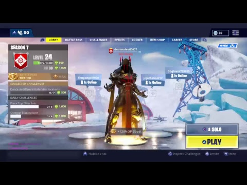 Fortnite Tier 100 Grind For Max Cosmetic For The Ice King Skin