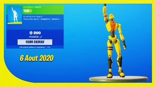 BOUTIQUE FORTNITE Du 6 Aout 2020 ! ITEM SHOP August 6 2020 !